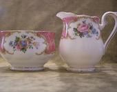 Royal Albert Lady Carlyle Cream and Sugar Set