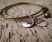 Love and Laugh Stacking Bangles