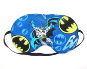 Sleep Mask -  Batman- Comes as Shown - Handmade - Fits Kids to Adults