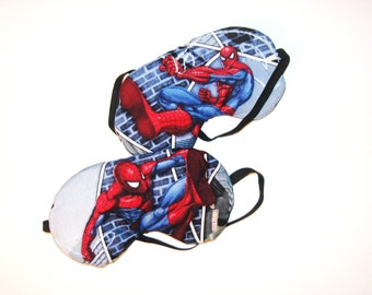 2 Sleep Masks -  Spiderman - Both Come as Shown - Handmade - Fits Kids to Adults