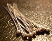 20 Gauge Sterling Silver Headpins 2 inch package of 10