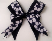 Layered Soccer Ball Boutique Hair Bow