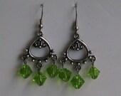 Light Green Chandelier Earrings