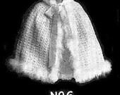Vintage Crochet Baby Cape -  Crochet Pattern - Gorgeous for Christmas
