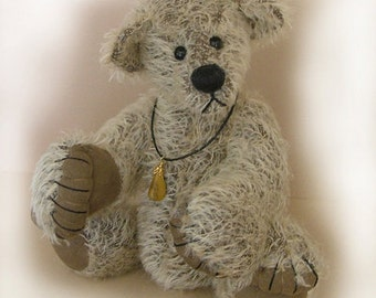 "PDF Bear pattern  ""Mister Depp"" Collectable artist designed mohair bear by Nioka Bears"
