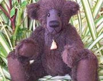 "PDF Bear Pattern for artist teddy ""Bruno"" Collectable artist designed mohair bear by Nioka Bears"