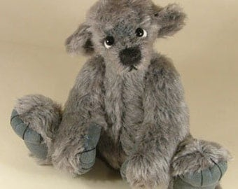 "Jointed Bear Pattern ""Elroy"" Collectable artist designed mohair bear by Nioka Bears"