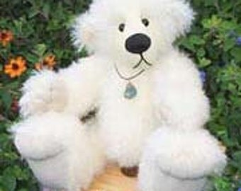 "Artist Bear Pattern for jointed teddy  ""Jess"" Collectable artist designed mohair bears by Nioka Bears"