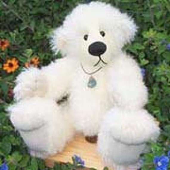 "Artist Bear Pattern for jointed teddy  ""Jess"" Collectable artist designed mohair bears by Nioka Bears"