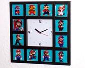 Nintendo HISTORY OF MARIO super wall or desk Clock videogame retro style