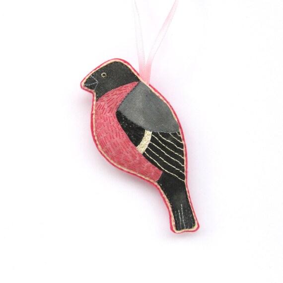 Small Bullfinch Bird Decoration/ Ornament