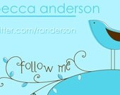 50 Calling Cards - Twitter Address - Personal \/ Business Cards