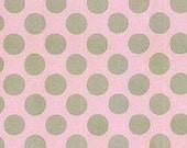 Henry Glass - Pink Ground Grey Polka Dots - by Linda Lum DeBono