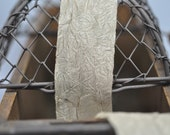 Ribbon-crinkle silky textured taupe (1.5 inches wide)
