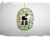 ON SALE Black Sheep Ornament/Tag/Wall Hanging
