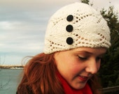 Reserved for ElArt-- 1920's Flapper-Style White Lace Cloche