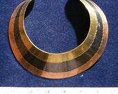 Brass and copper and a 3rd component I'm not sure of - cuff necklace