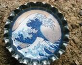 Bottlecap magnet, wave