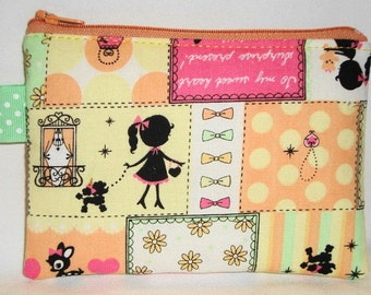 Lovely Punch Kawaii Patchwork Zippered Pouch --- Yellow (Camera / Cell Phone Case / Coin Purse)