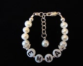 Personalized BABY Heirloom Bracelets  Fresh Water Pearl  Sterling Silver FREE SHIPPING