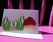 Hedgehog Mushroom Cards Invitation Stationary SET OF SIX