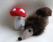 Hedgehog Crochet Amigurumi Soft Plush Child or Adult Toy