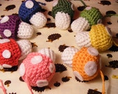 CUSTOM Christmas Mushroom Crochet Amigurumi Toy Ornament