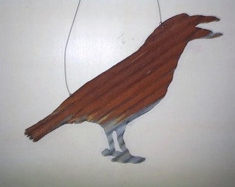 Large Roofing Tin Crow (Hanging) by Black Crow Forge