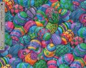 Colorful Easter Egg Fabric Cranston Print Works  1 Yard DESTASH