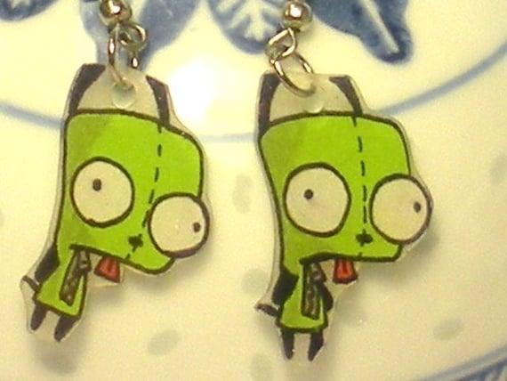 Gir Invader Zim Earrings