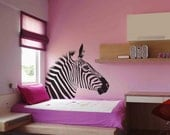 Zebra head wall sticker