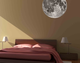Moon Wall Graphic- Reusable Wall Sticker, Art, Space, Child Decor, Decal