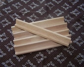 5 Wood Tile Holders