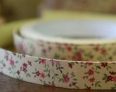 Lovely Fabric Deco Tape - Red  Flora