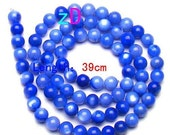 Night Blue Shell Round Beads - 5mm - 10 Pieces