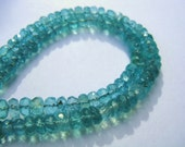 Glimmering green blue apatite faceted rondels 4-5 mm A grade