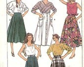 Vintage Sewing Pattern-Simplicity 7502-Full Circle SKIRT--Half circle- Size 10 12 14-Uncut