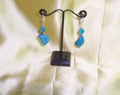 Turquoise and Crystal Earrings - WAS 6.00 NOW 4.00