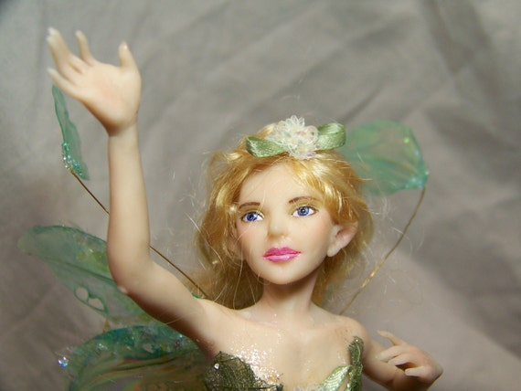 Ooak polymer clay fairy art doll fantasy sculpture by kate sjoberg