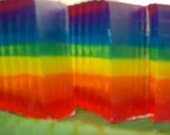 Spectrum of Rainbows Glycerin Soap Banana, Strawberry and Orange Scented Fragrant
