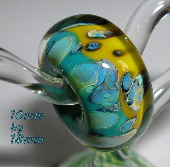 Beau Hawn - Lampwork Glass Boro Beads - Big Hole Bead - Fits European Troll Style  CHARM BEAD