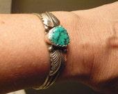 Turquoise Bracelet, Sterling silver, vintage 70s like Bellas in Twilight