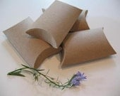 CUSTOM LISTING FOR Rebeccastern - 100 Small Kraft Pillow Boxes - PLEASE DO NOT PURCHASE IF YOU ARE NOT Rebeccastern