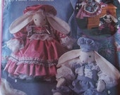PIF Simplicity Crafts Pattern 8893 Victorian Rabbits to Decorate 18 Inches. Uncut, Factory Fold,