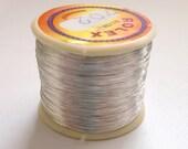 Metallic Silver Plated Indian Zari Sari Decorative Embroidery Thread