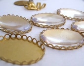 6 pcs 30x22 mm Clear Acrylic Magnifying Cabochons