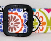WoofWoof and Sew On - Dog Collar with Embroidered ID Info - Mardi Gras