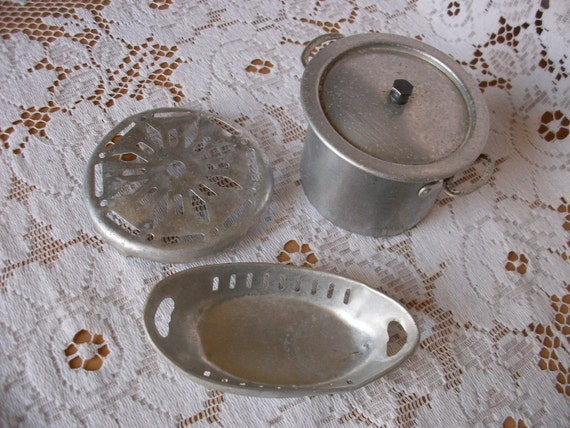 Little Collection Vintage French Doll's Cooking Equipment