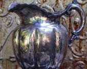 Footed Melon Holloware Water Pitcher Homan Silverplate Company 1896 1904