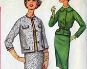 Vintage Simplicity Pattern 3159 Women's Skirt and Jacket Suit early 1960s Size 12 1/2